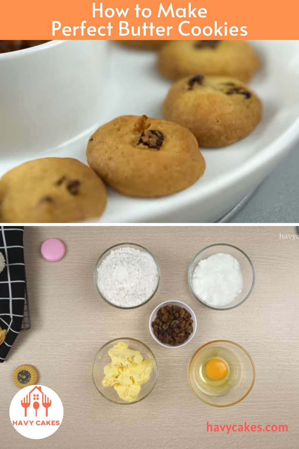 How to make Butter Cookies: Ingredients