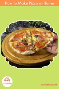 How to make pizza at home: End