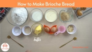How to make brioche bread at home: Ingredients
