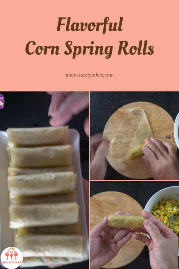 Corn Spring Rolls How To: Step3