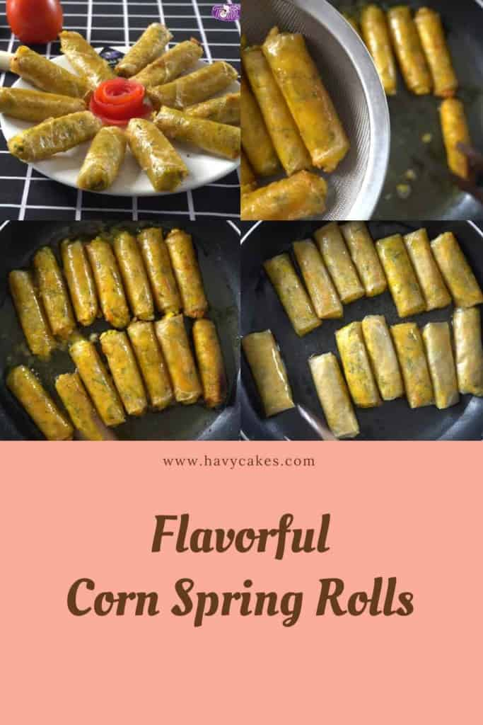 Corn Spring Rolls How To: Step4