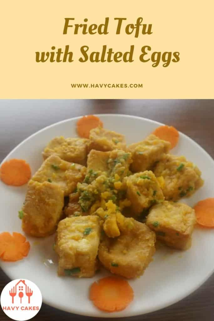 Fried tofu with salted eggs howto: End