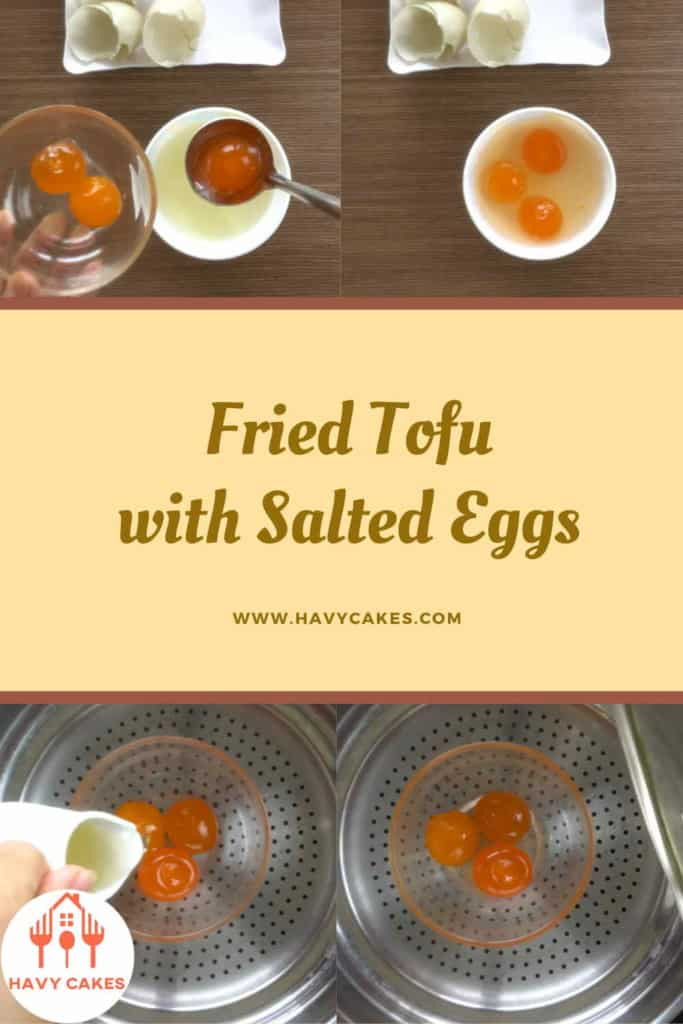 Fried tofu with salted eggs howto: Step3