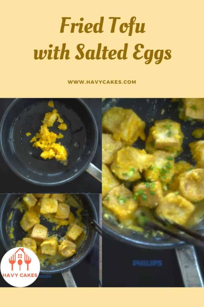 Fried tofu with salted eggs howto: Step5