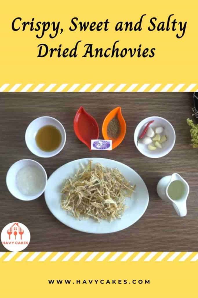 Crispy, sweet and salty dried anchovies howto: Ingredients