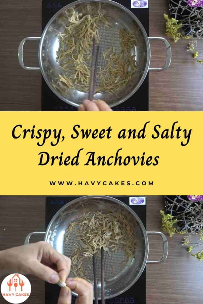 Crispy, sweet and salty dried anchovies howto: Step1