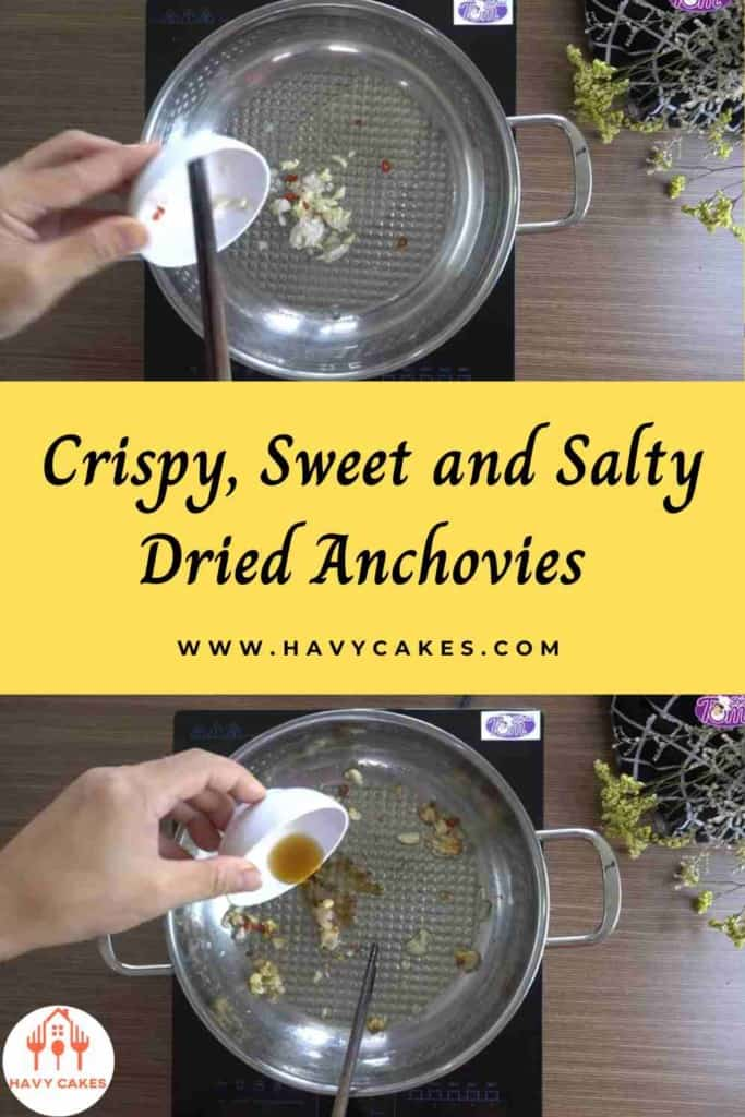Crispy, sweet and salty dried anchovies howto: Step2