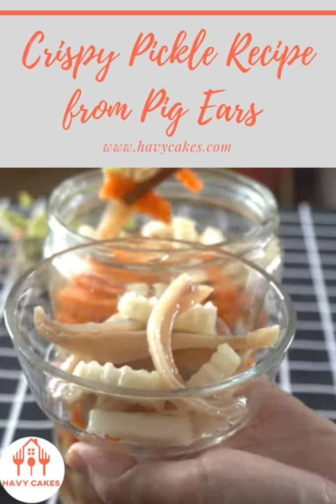 A pickle jar from pig ears
