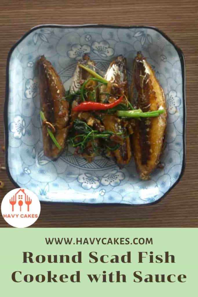 Round scad fish cooked with sauce howto: End