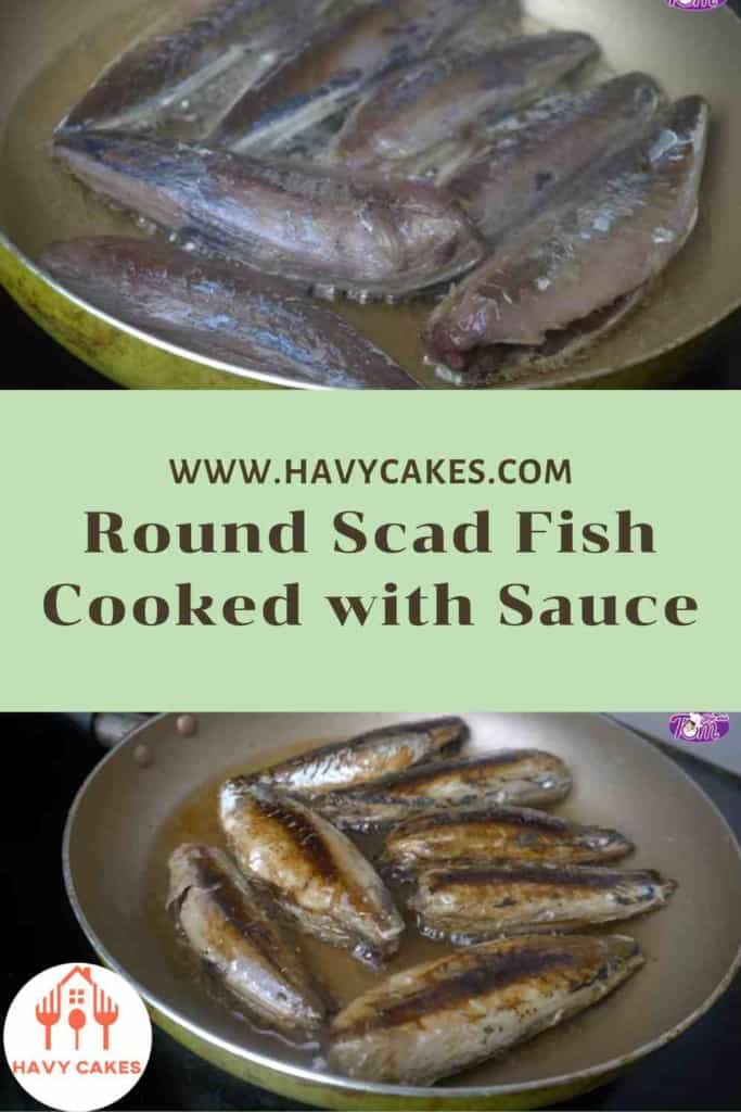 Round scad fish cooked with sauce howto: Step2