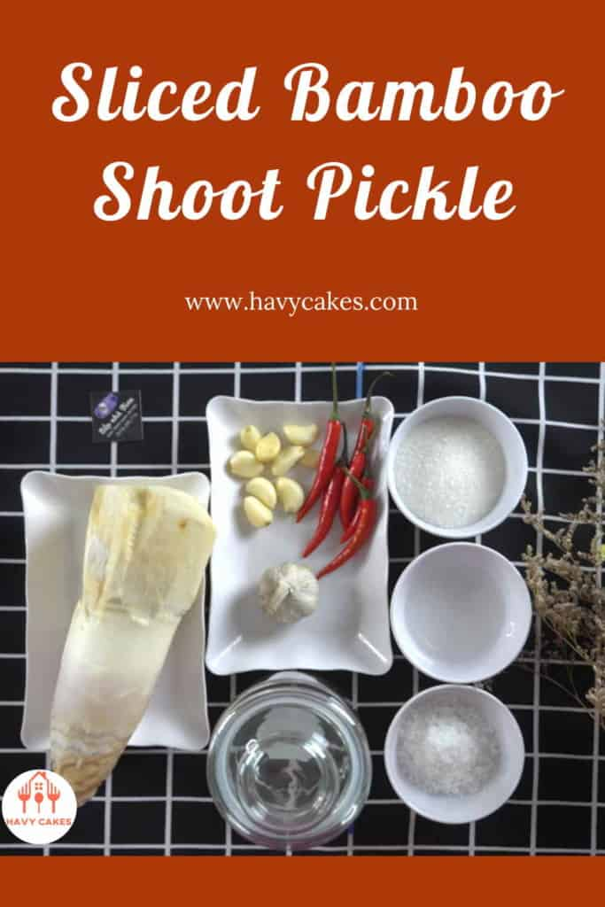 Sliced Bamboo Shoot Pickle Howto: Ingredients