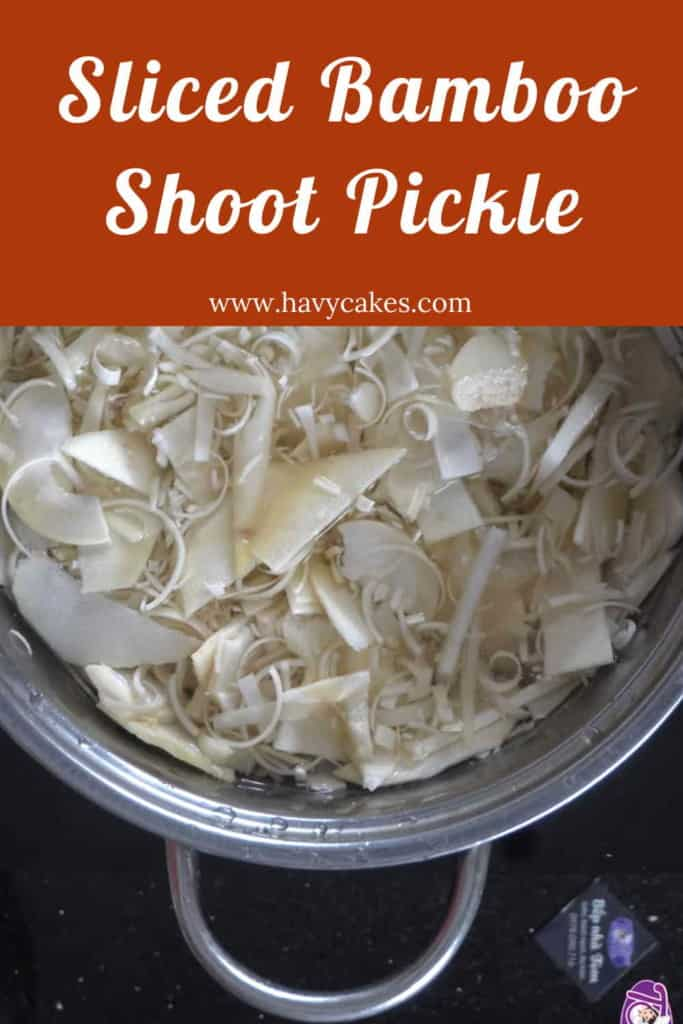 Sliced Bamboo Shoot Pickle Howto: Step2