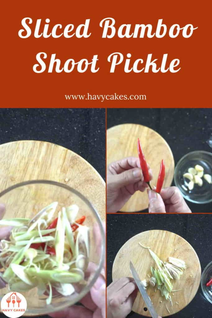 Sliced Bamboo Shoot Pickle Howto: Step3