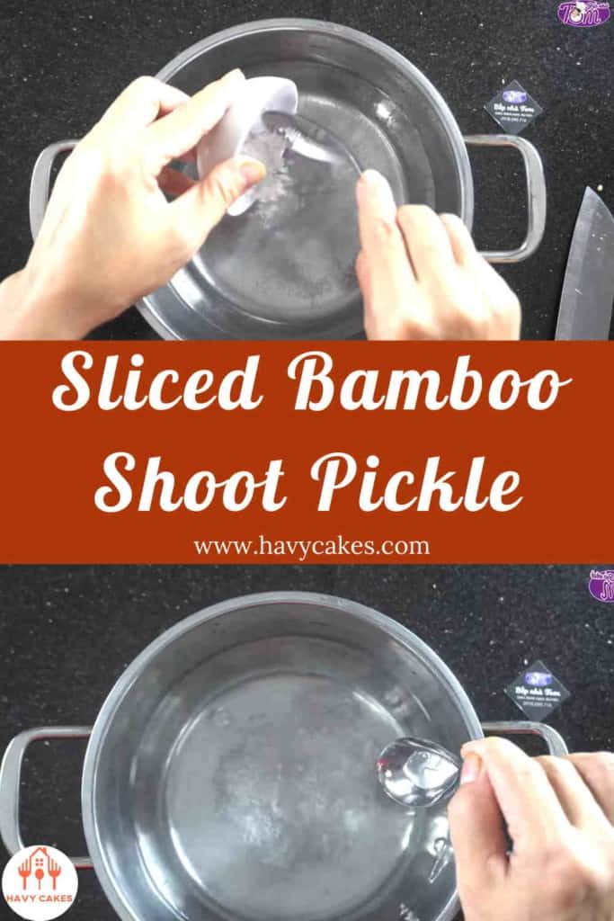 Sliced Bamboo Shoot Pickle Howto: Step4