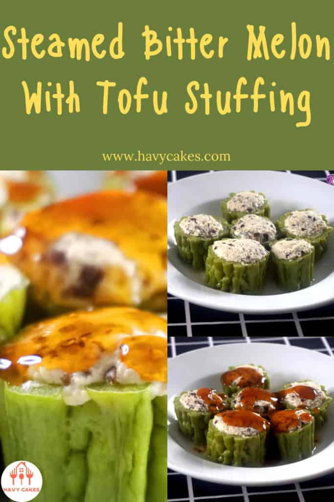 Steamed bitter melon with tofu stuffing howto: End
