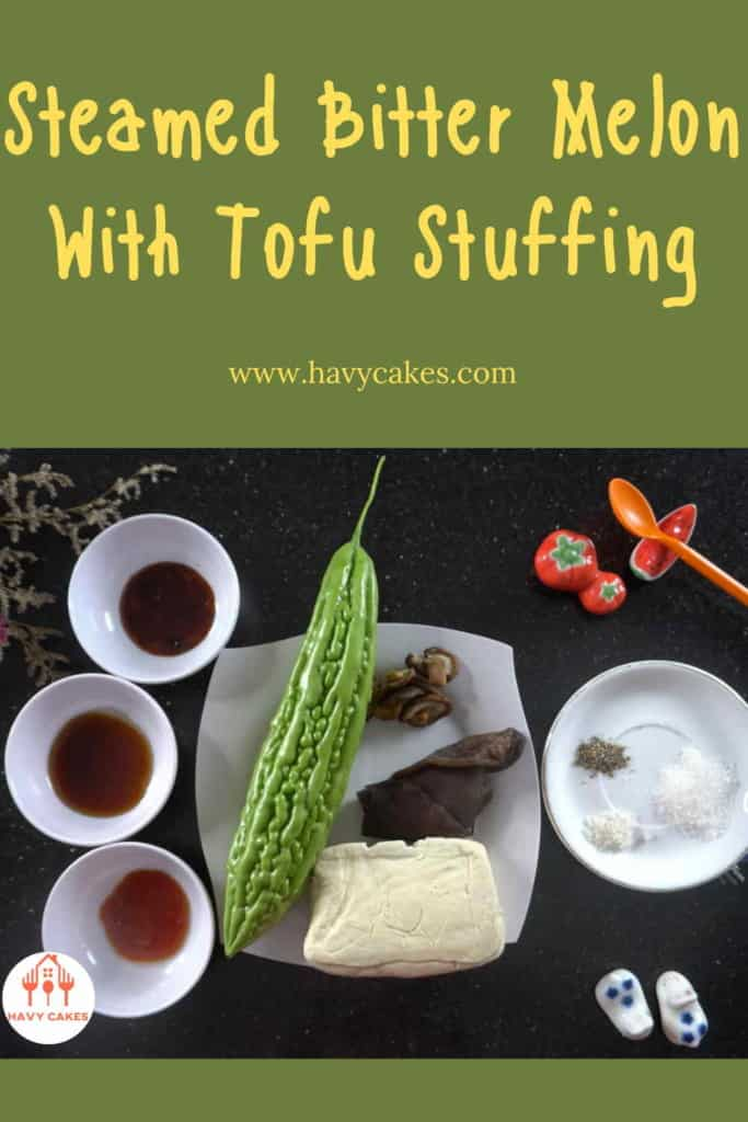 Steamed bitter melon with tofu stuffing howto: Ingredients