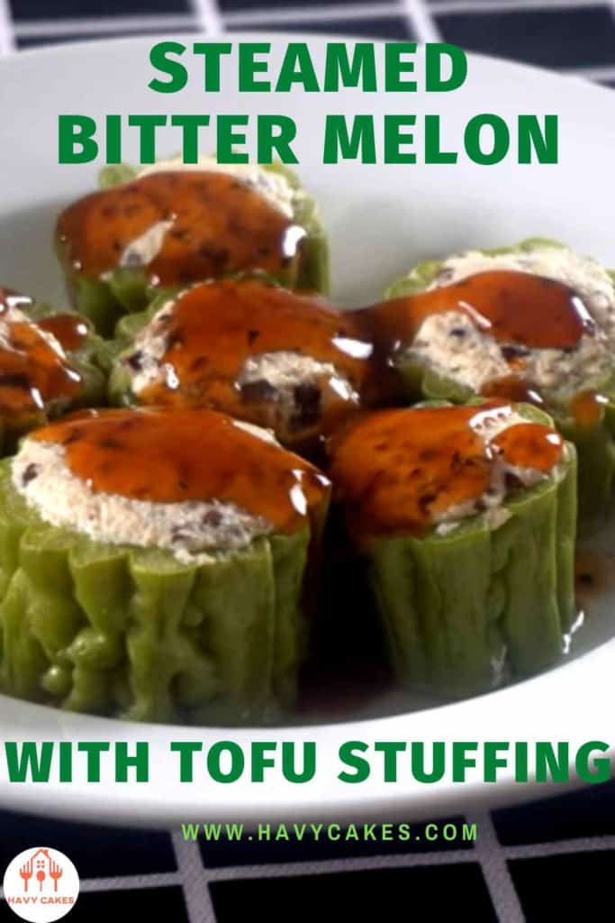 Steamed bitter melon with tofu stuffing howto: Intro