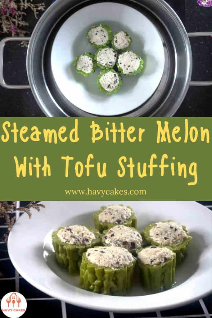 Steamed bitter melon with tofu stuffing howto: Step4