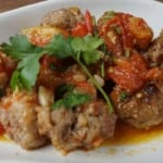 Stir-fried tomatoes with minced pork balls howto: Thumbnail