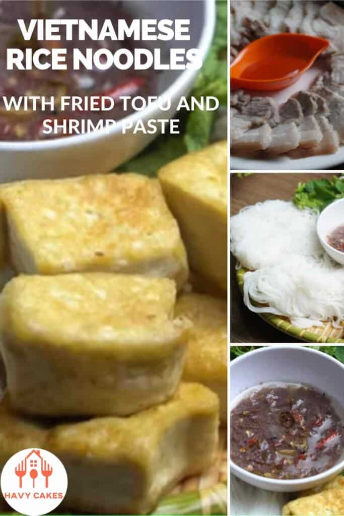 Vietnamese rice noodles with fried tofu and shrimp paste howto: Intro