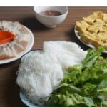 Vietnamese rice noodles with fried tofu and shrimp paste howto: Thumbnail