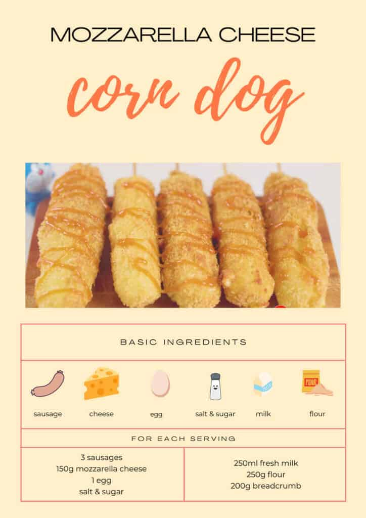 ingredients of cheese corn dog