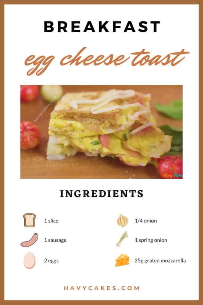 ingredients for cheese egg sandwich