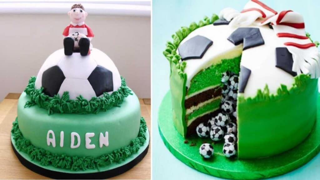 how to make football cakes decorating