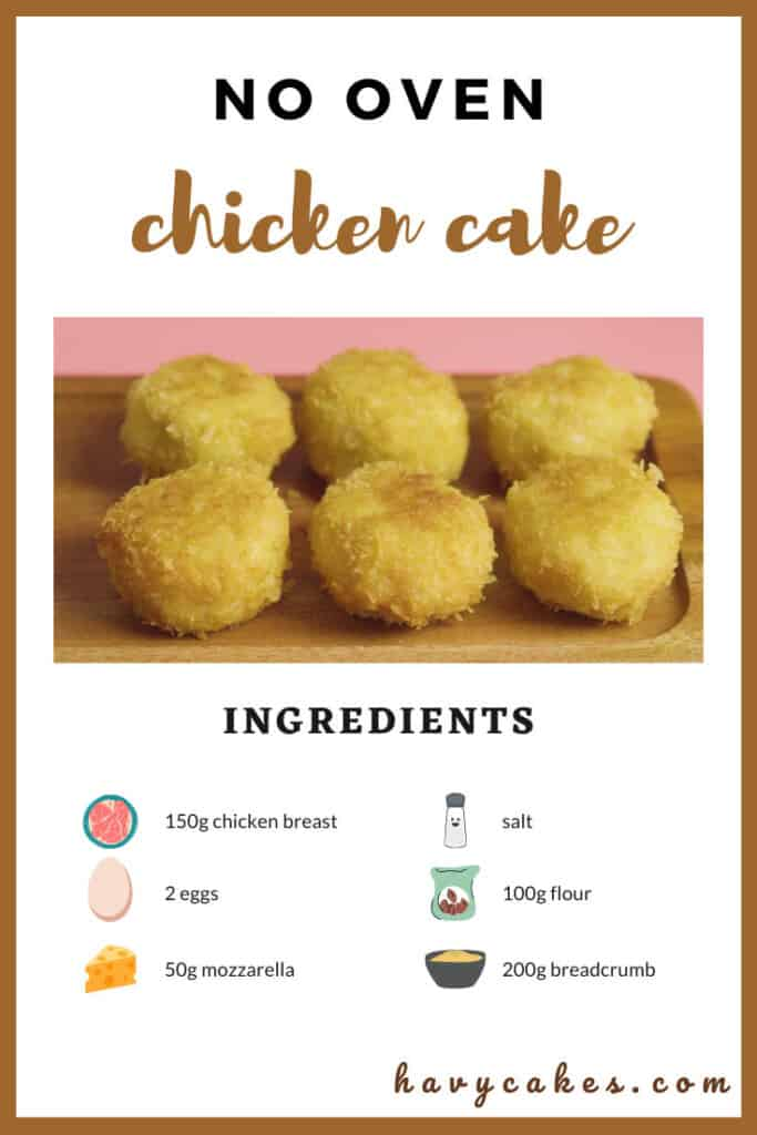 ingredients for chicken cakes