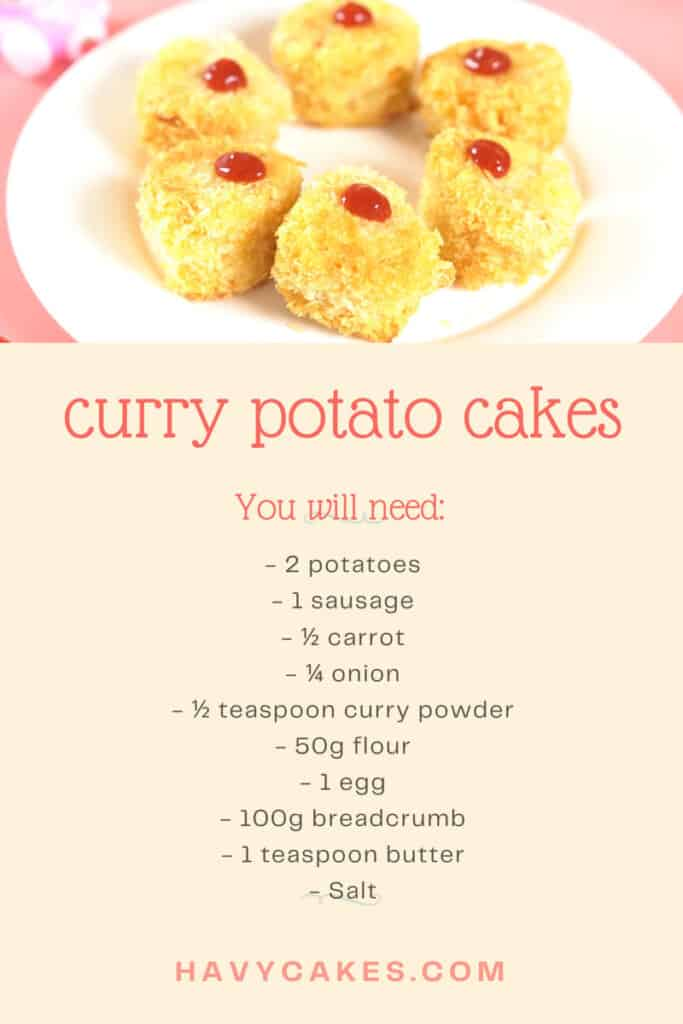 ingredients for curry potato cakes