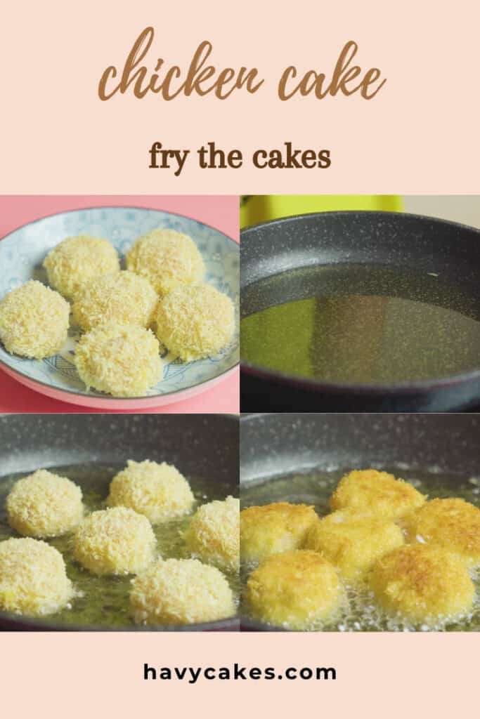 4 - fry the cakes