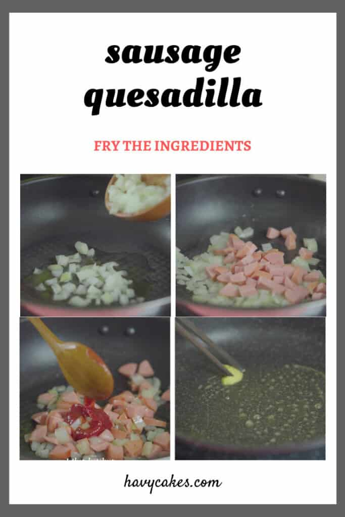 2 - fry the ingredients