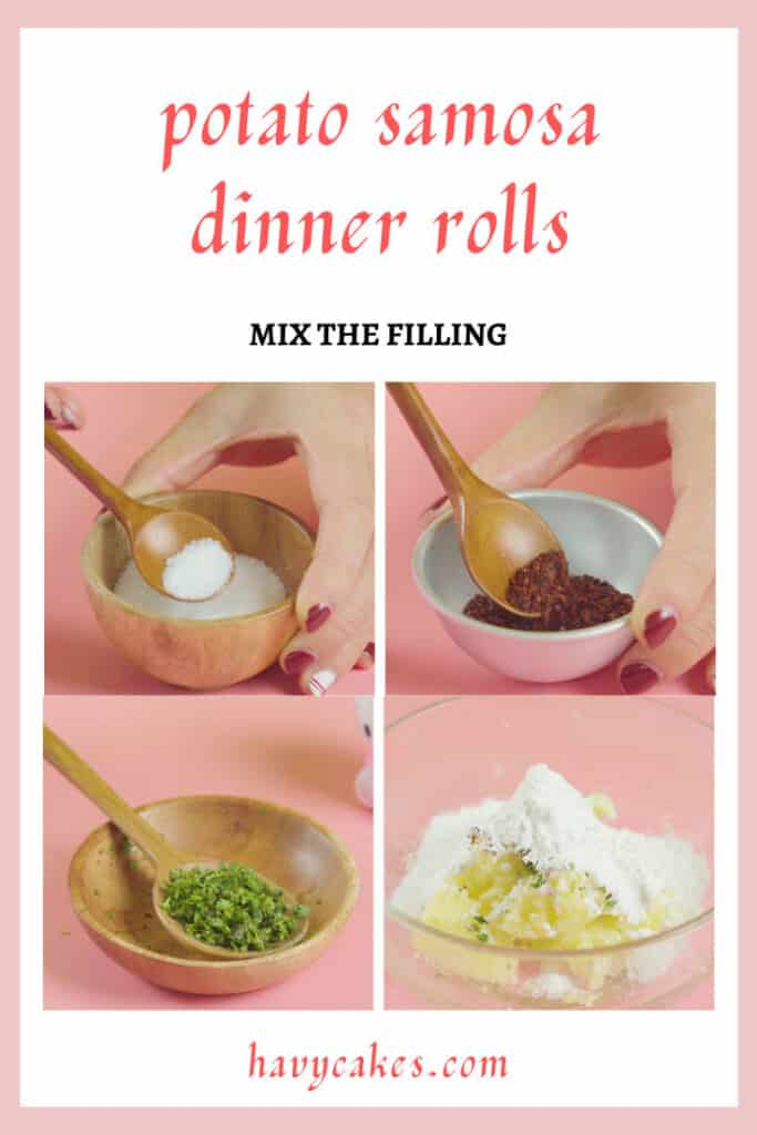2 - mix the filling