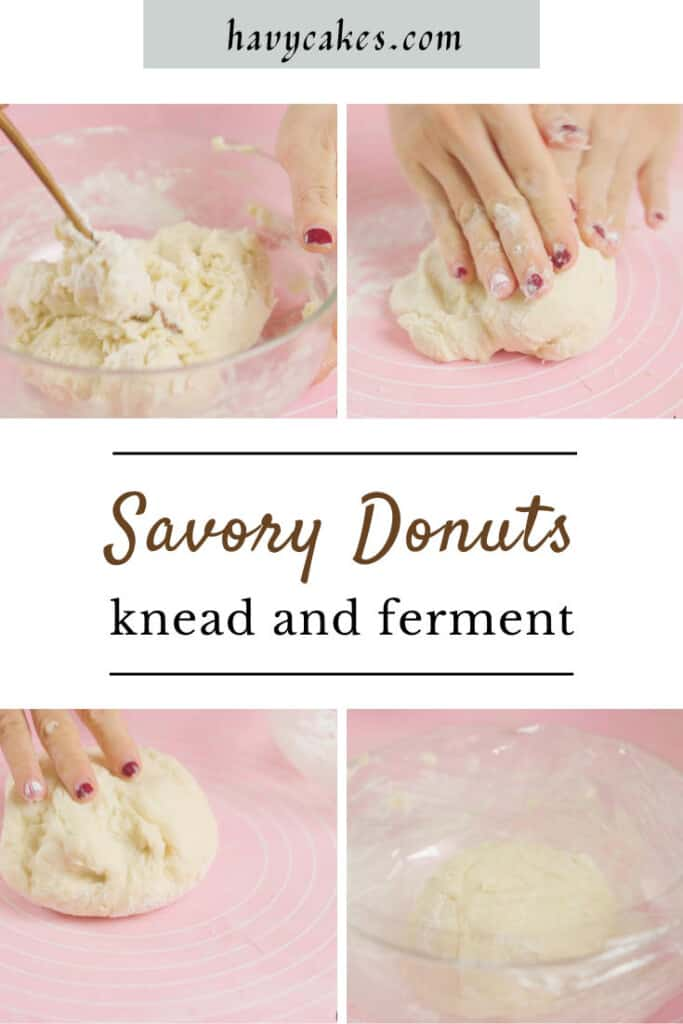 3 - knead and let it ferment