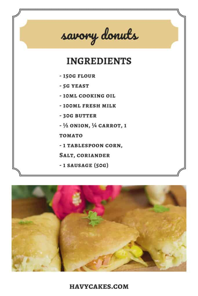 ingredients of savory donuts
