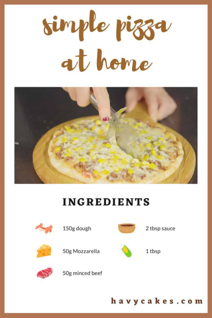ingredients for a simple pizza