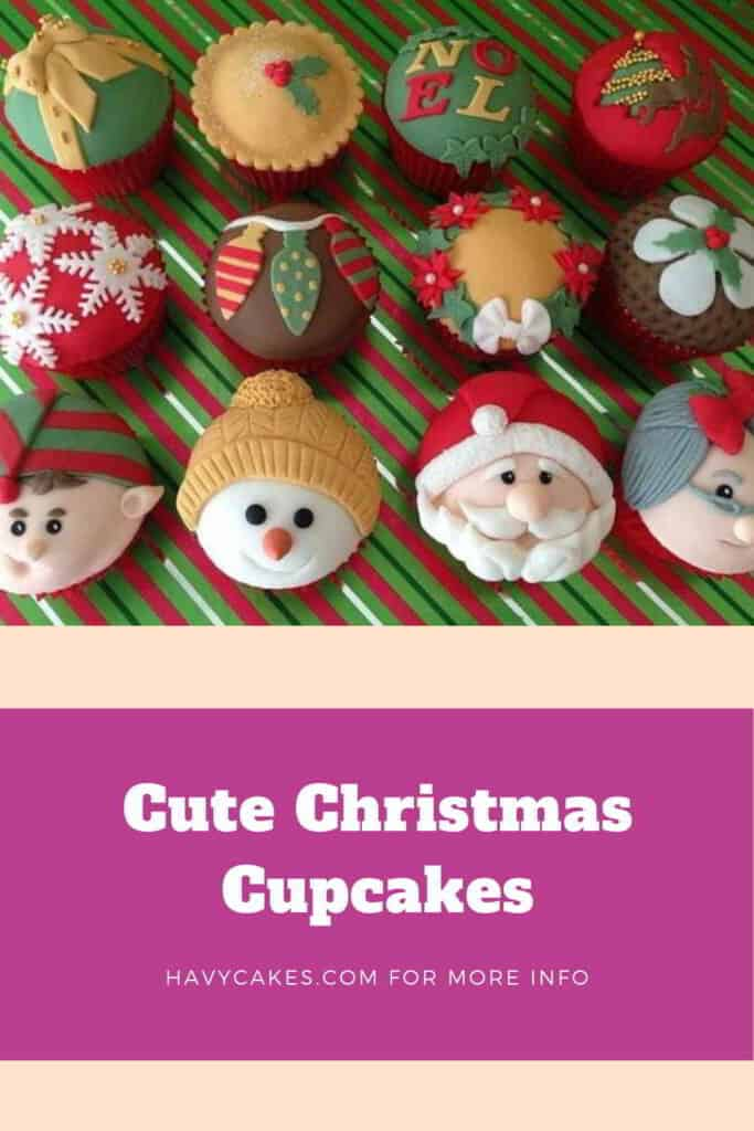 Cupcakes with cute faces