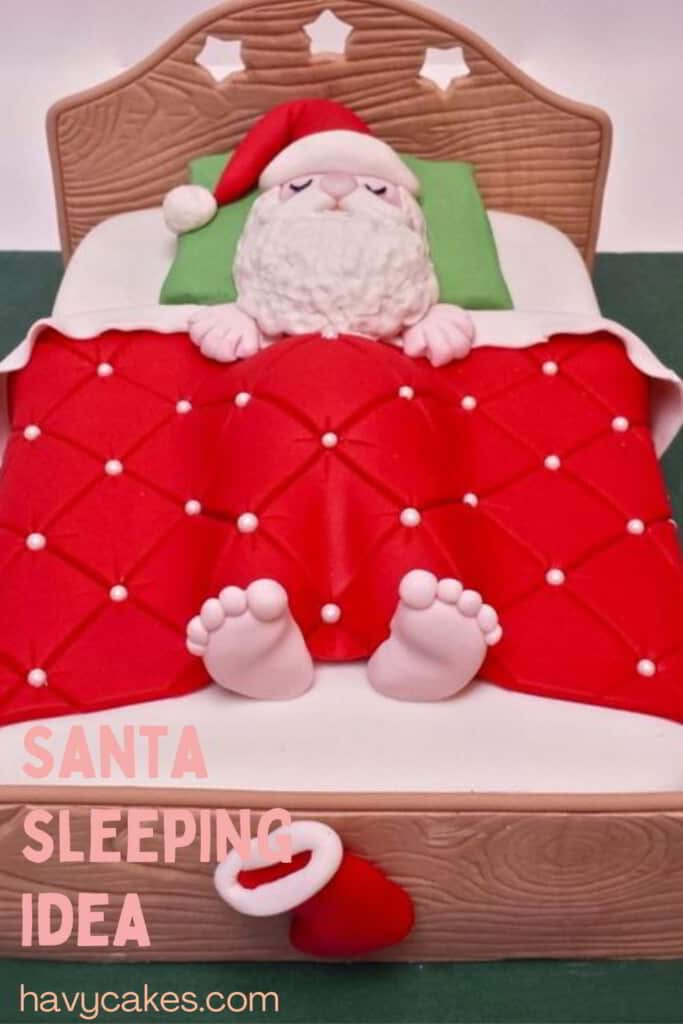 Santa Claus in the bed