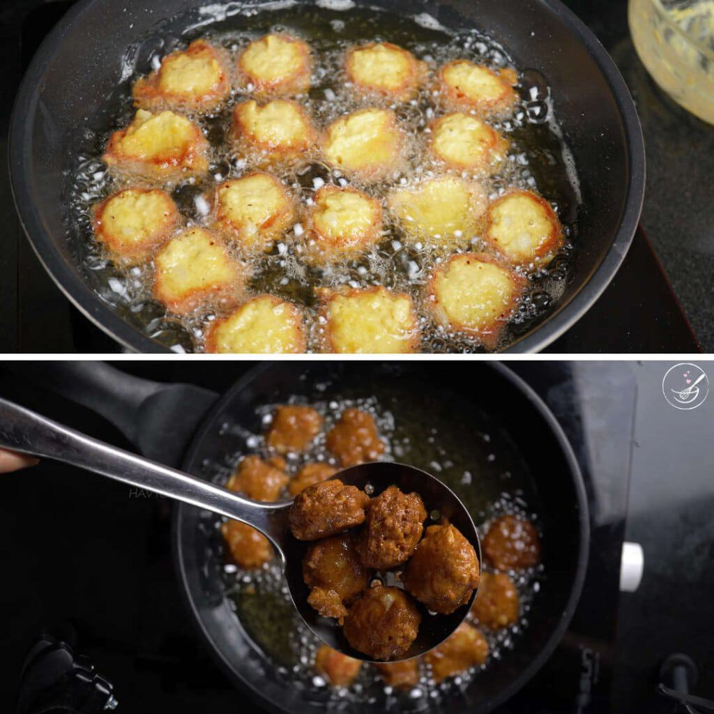 step 3 - fry the hushpuppies