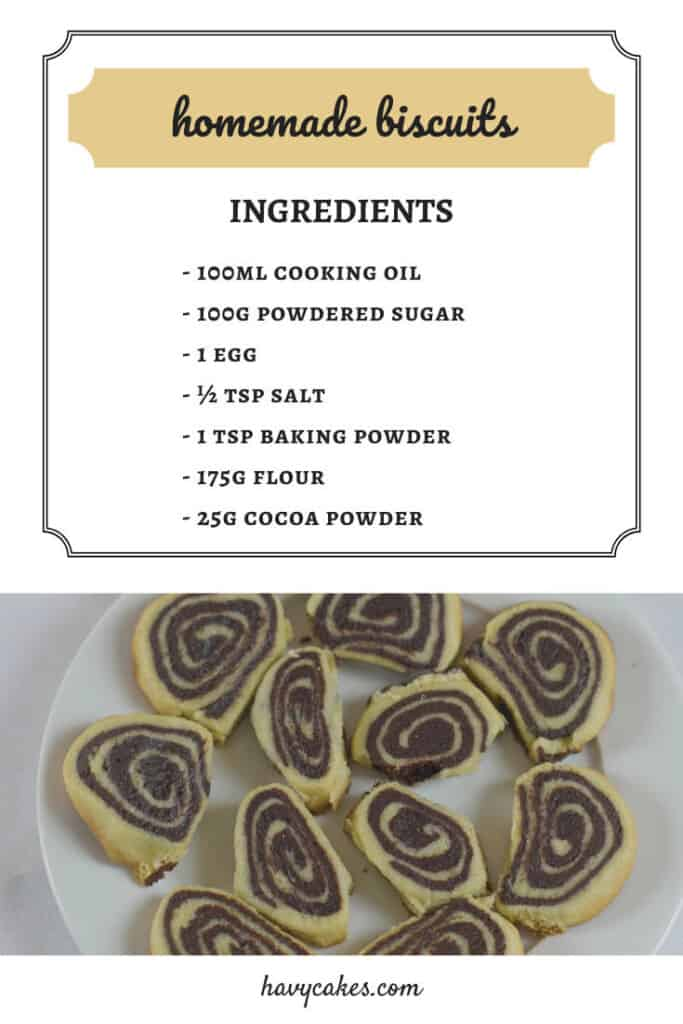 ingredients of homemade biscuits