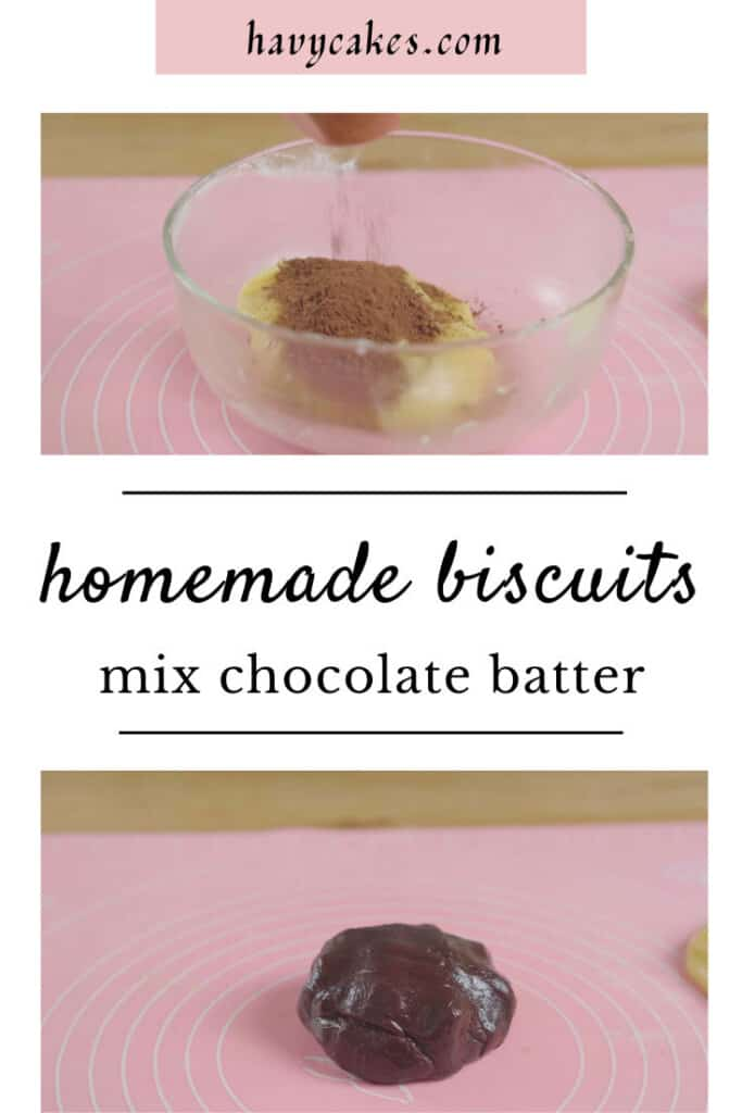 4 - mix cocoa powder with batter