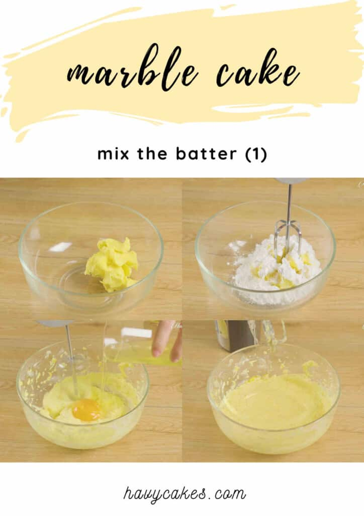 1 - mix butter and sugar