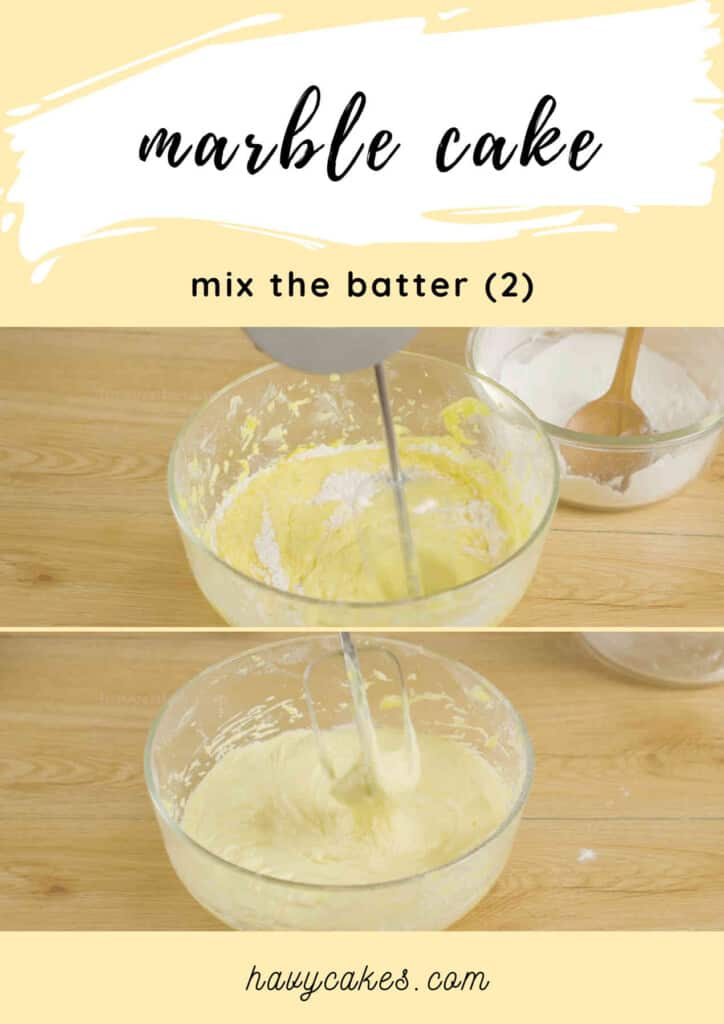2 - sift and add flour to the batter