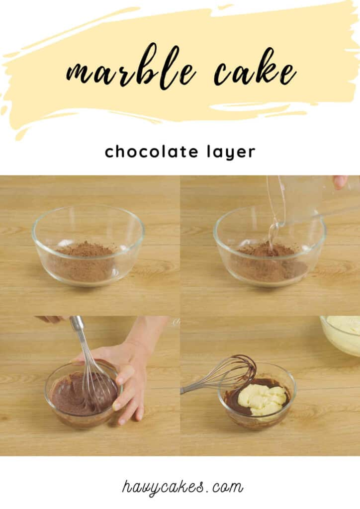 3 - mix the cocoa batter