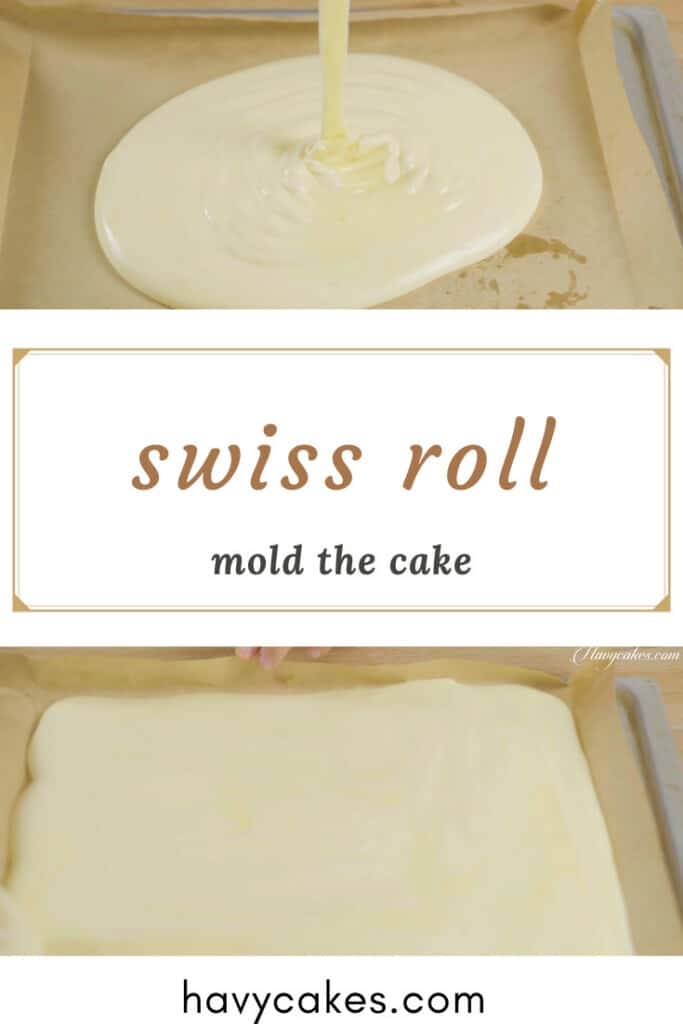 4 - mold the batter and bake